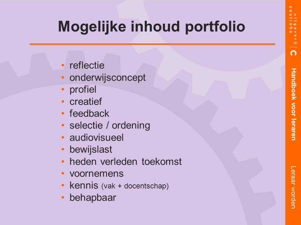 Mogelijke inhoud portfolio