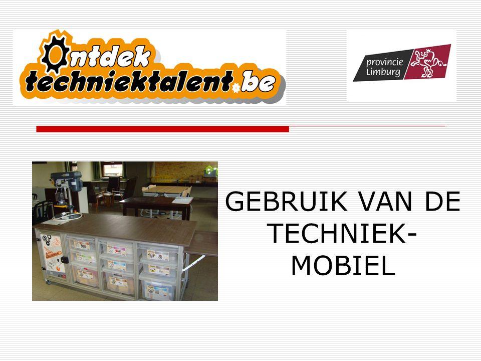 GEBRUIK VAN DE TECHNIEK-MOBIEL