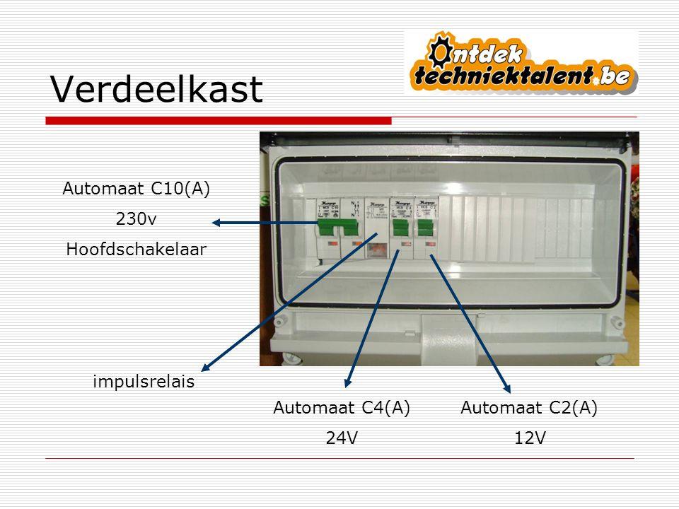 Verdeelkast Automaat C10(A) 230v Hoofdschakelaar impulsrelais