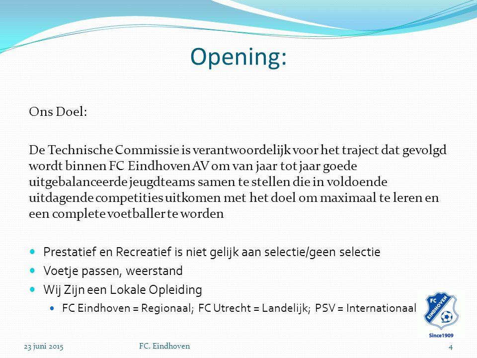 Opening: Ons Doel: