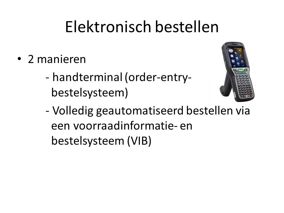 Elektronisch bestellen