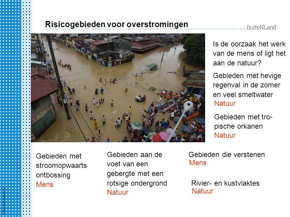 Risicogebieden voor overstromingen