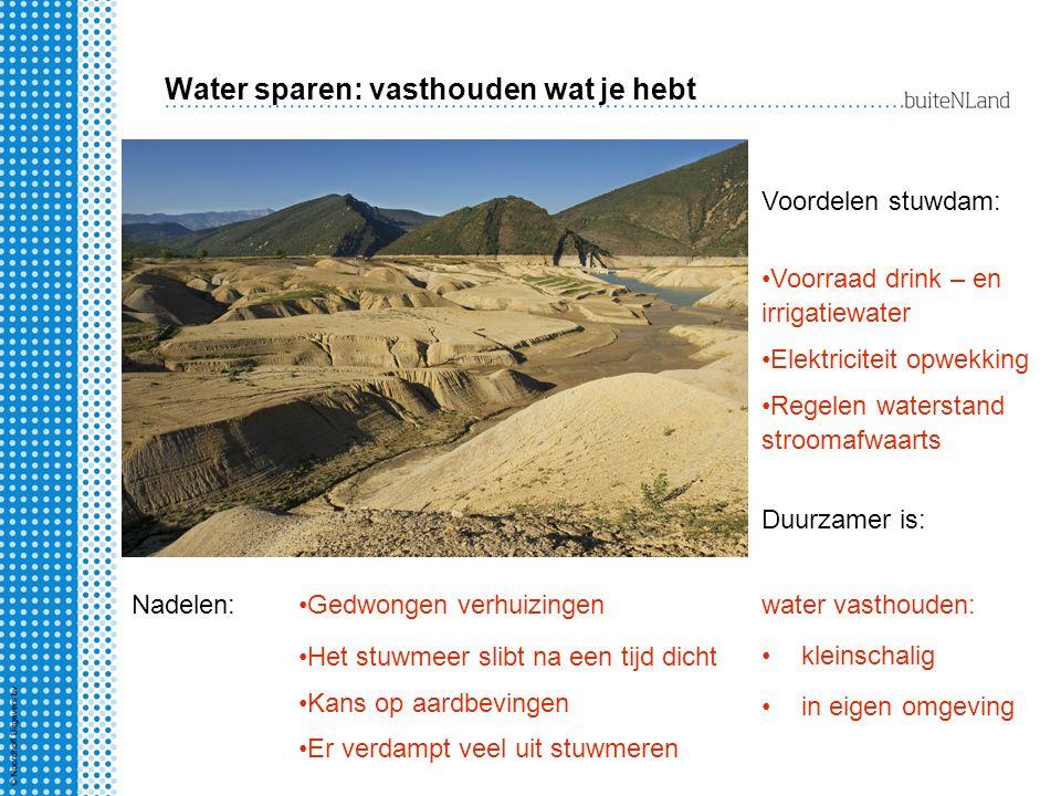 Water sparen: vasthouden wat je hebt