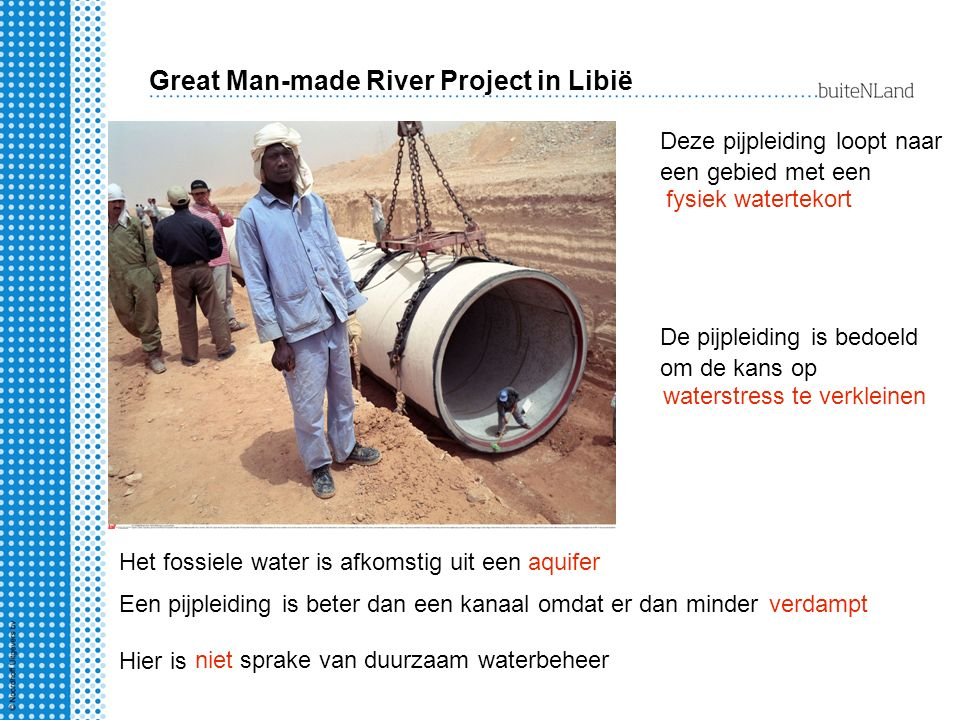 Great Man-made River Project in Libië