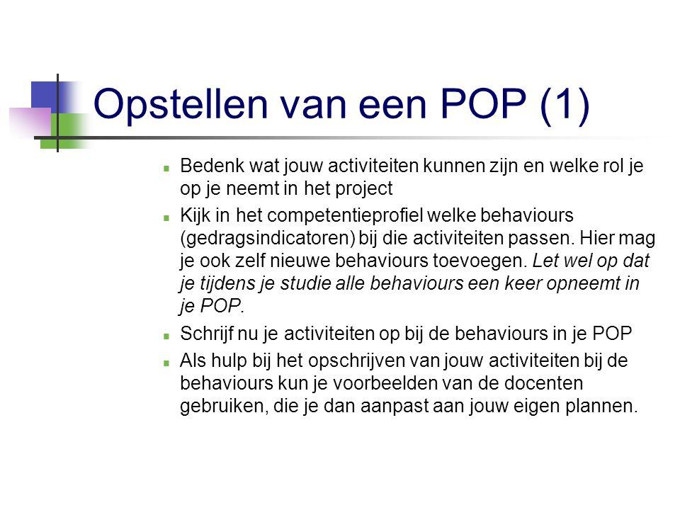 Opstellen van een POP (1)