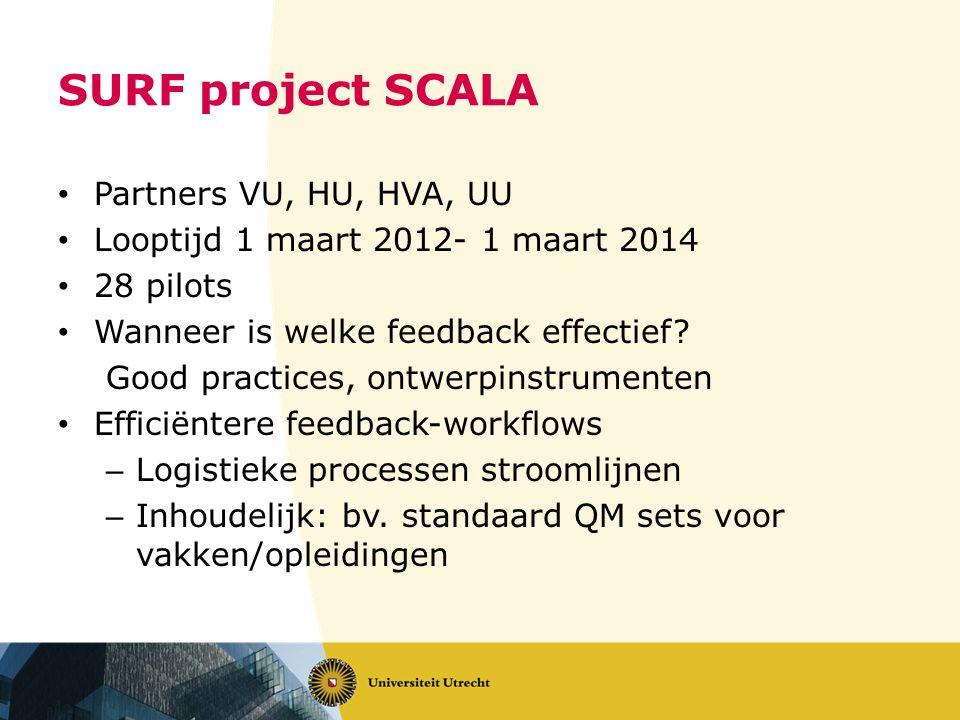 SURF project SCALA Partners VU, HU, HVA, UU
