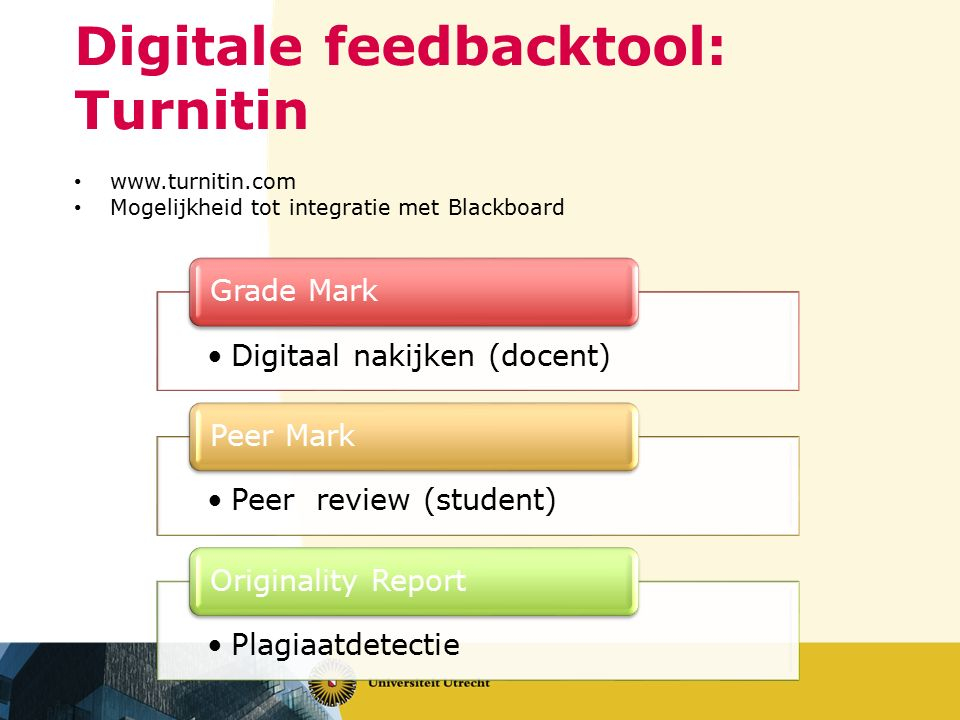 Digitale feedbacktool: Turnitin