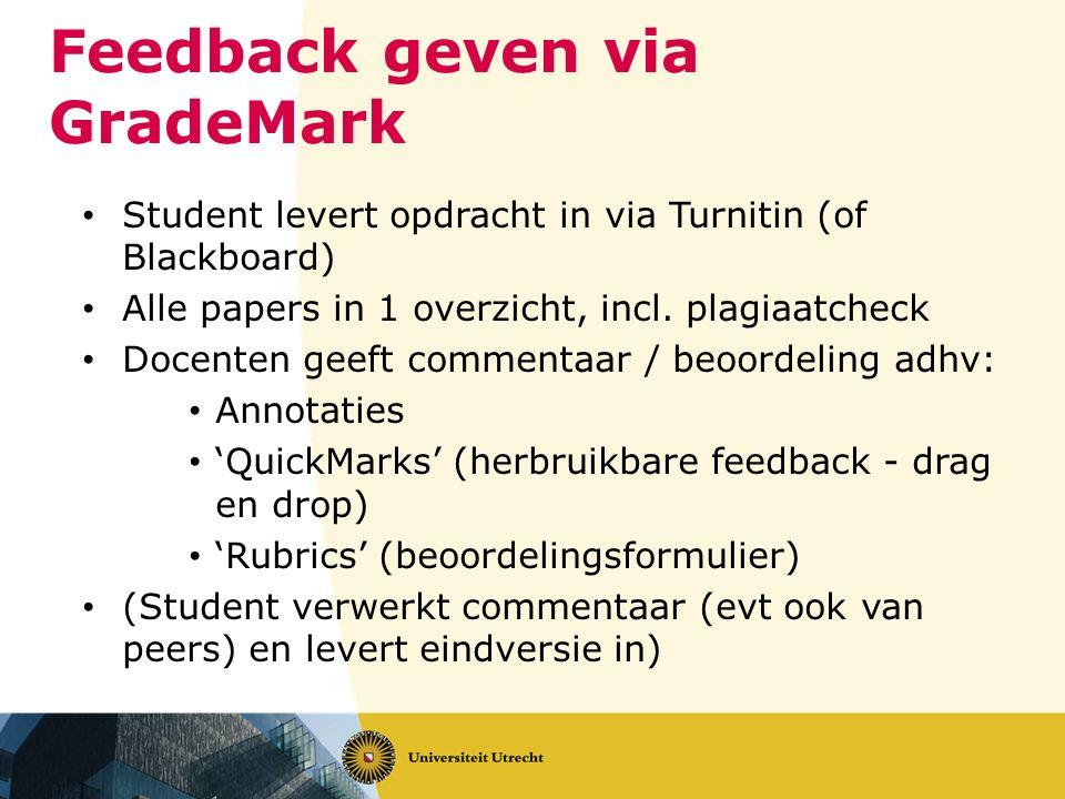 Feedback geven via GradeMark
