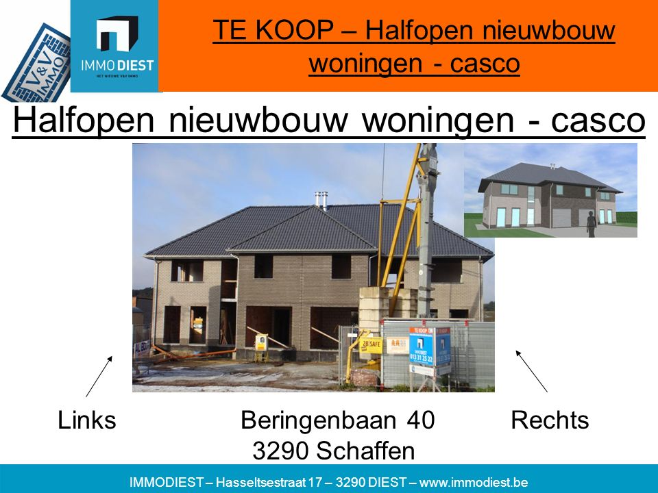Halfopen nieuwbouw woningen - casco