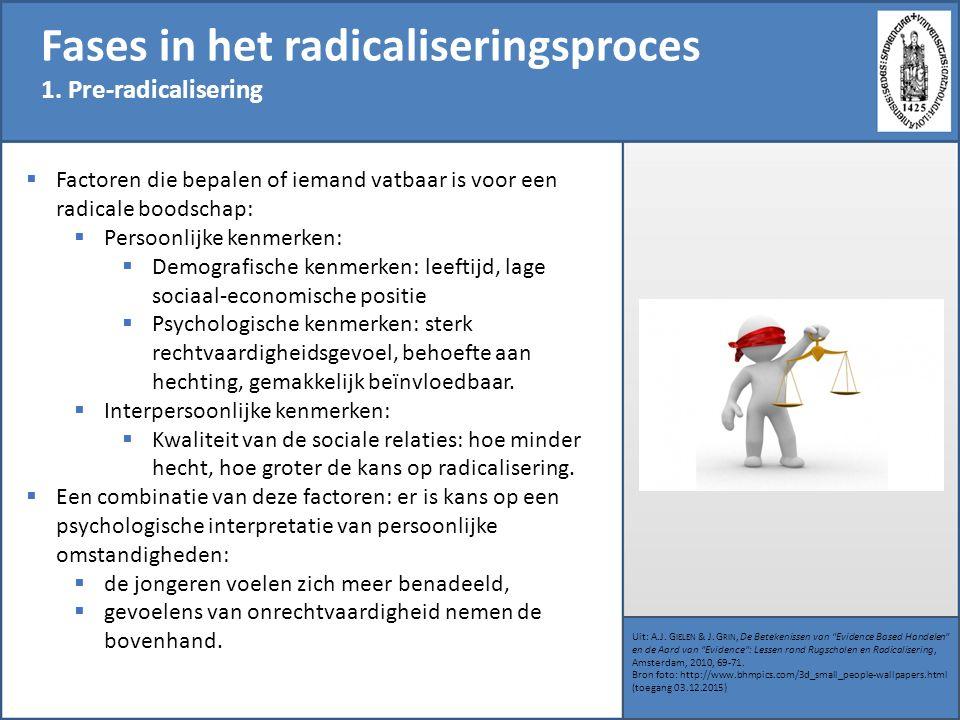 Fases in het radicaliseringsproces
