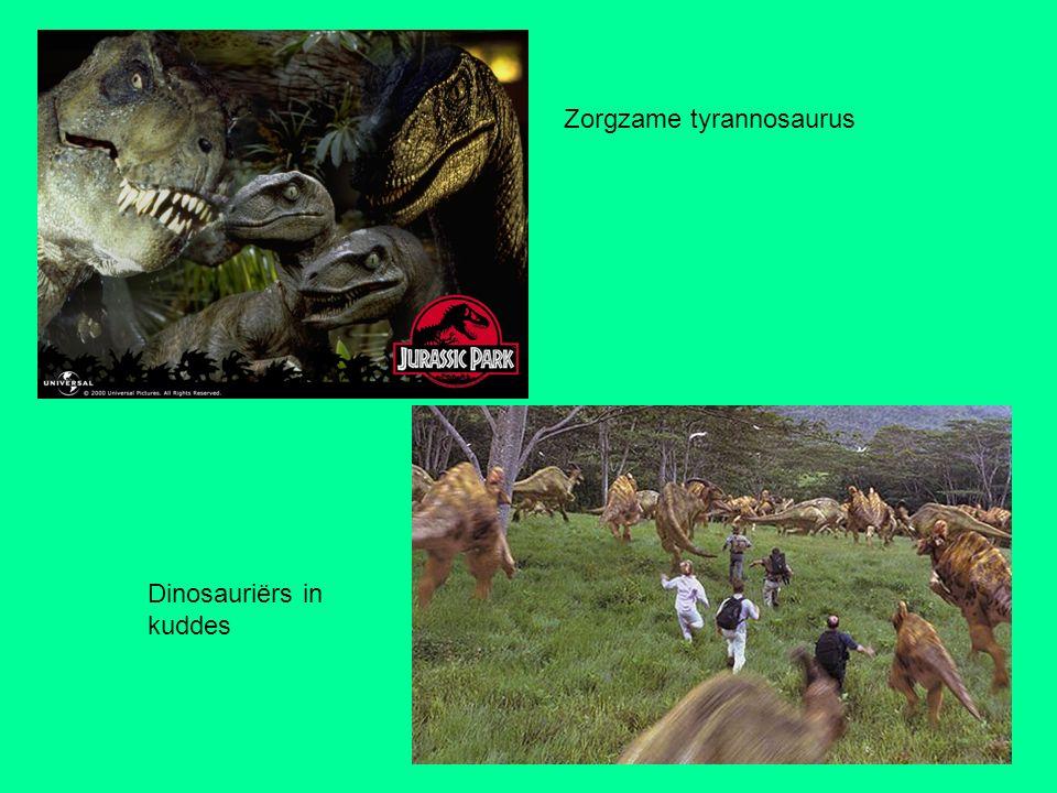 Zorgzame tyrannosaurus