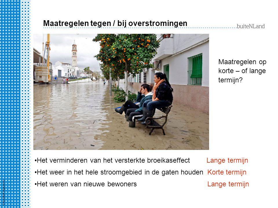 Maatregelen tegen / bij overstromingen