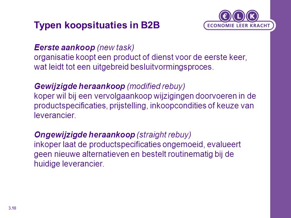 Typen koopsituaties in B2B