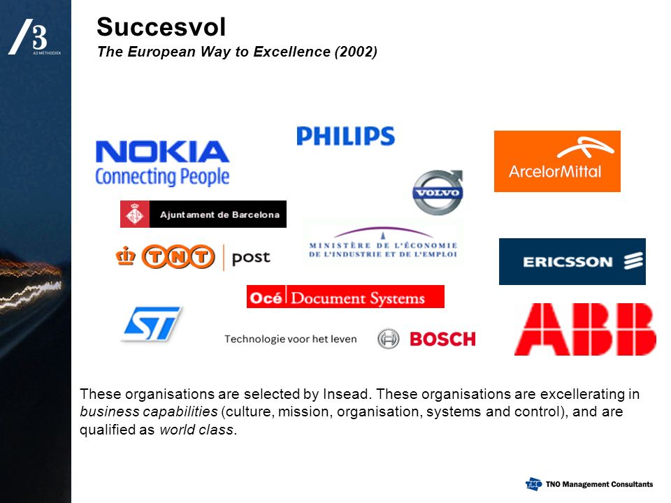 Succesvol The European Way to Excellence (2002)