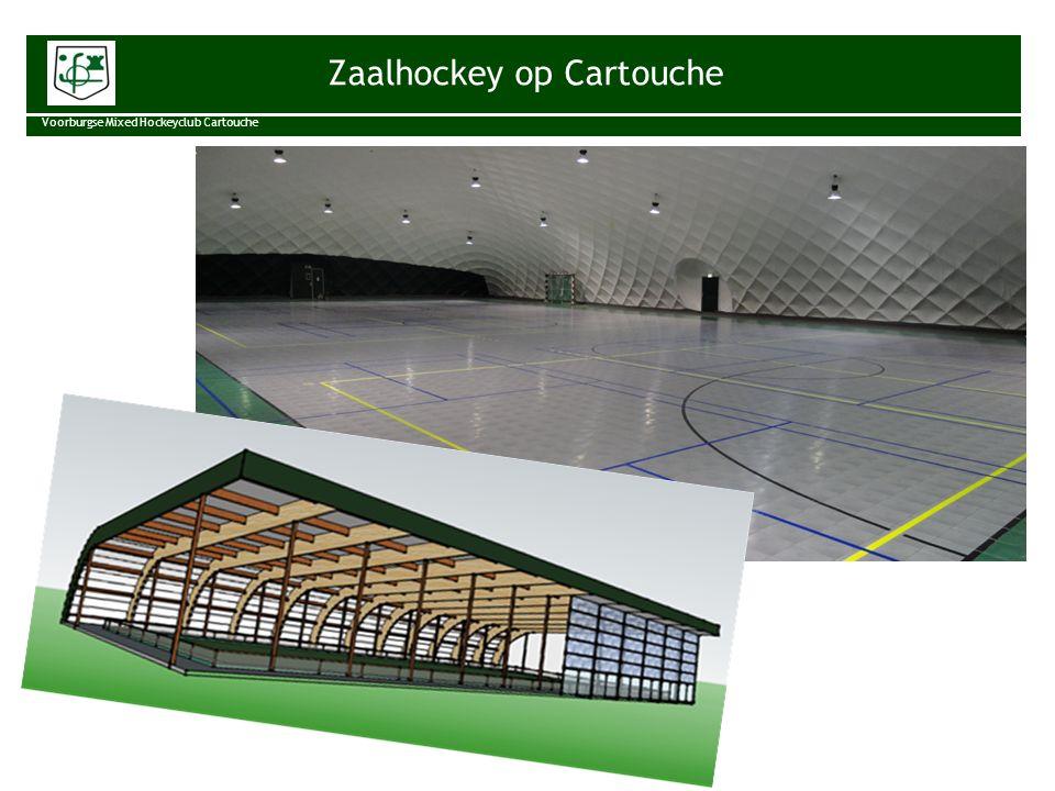 Zaalhockey op Cartouche