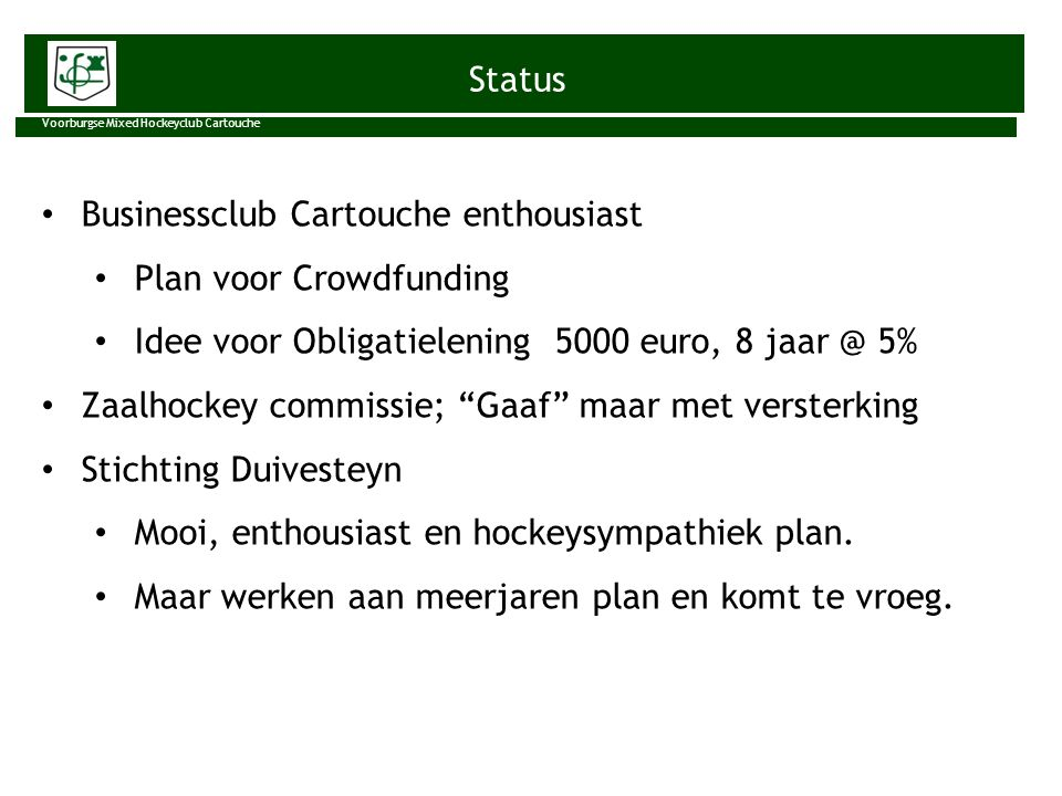 Businessclub Cartouche enthousiast Plan voor Crowdfunding