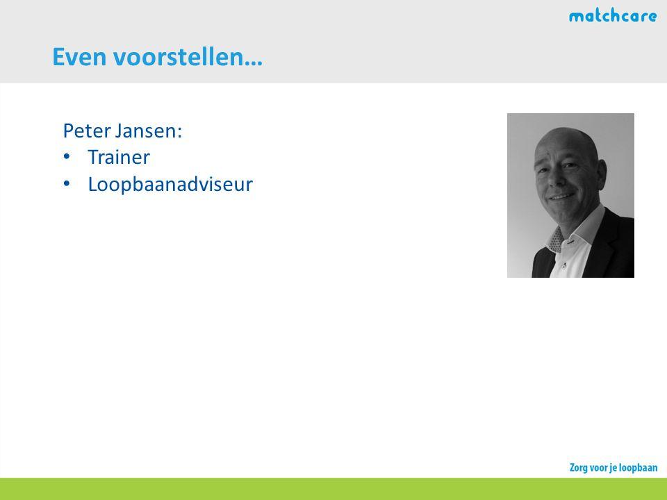 Even voorstellen… Peter Jansen: Trainer Loopbaanadviseur