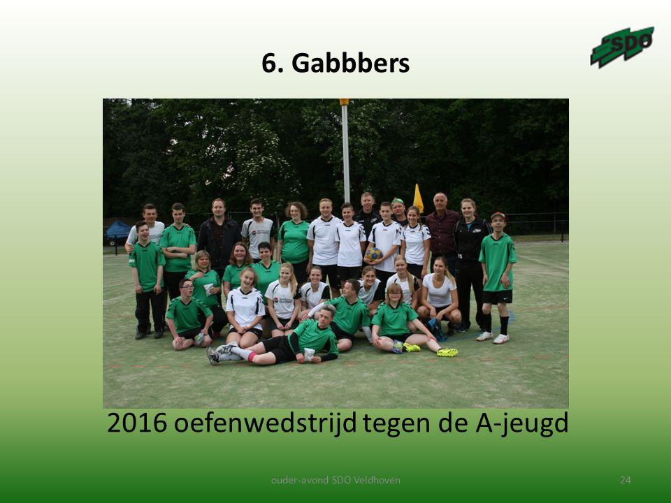 2016 oefenwedstrijd tegen de A-jeugd