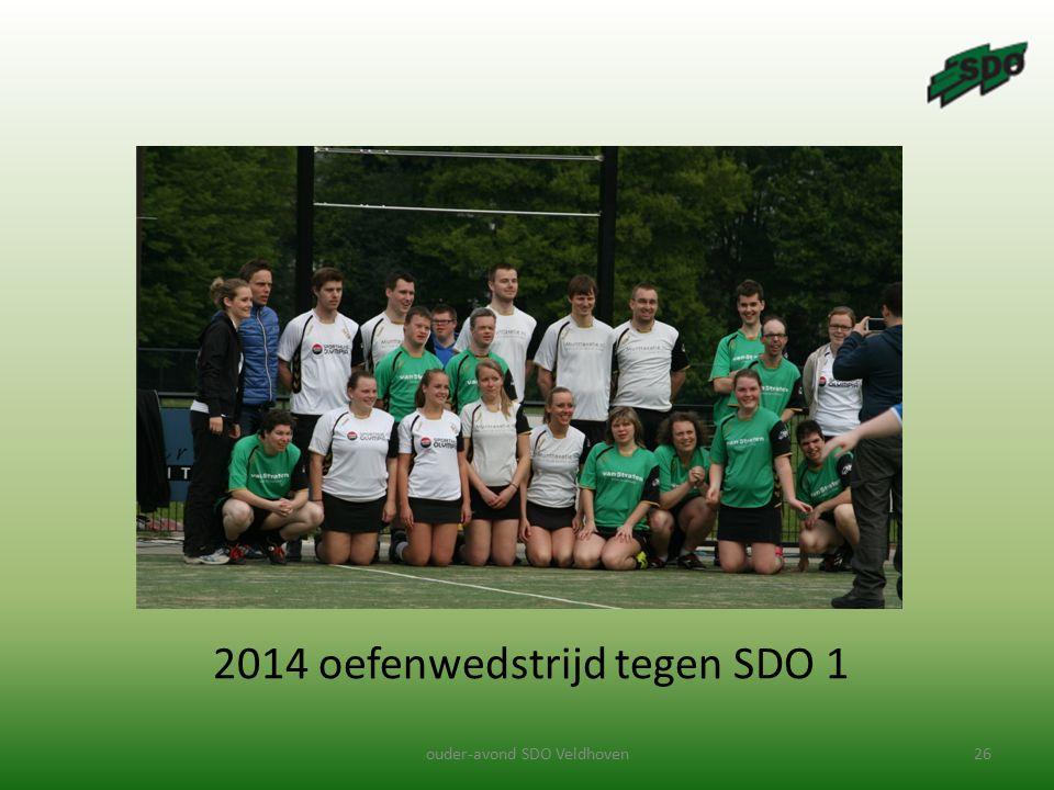 2014 oefenwedstrijd tegen SDO 1