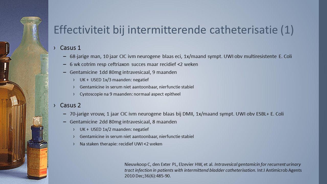 Effectiviteit bij intermitterende catheterisatie (1)