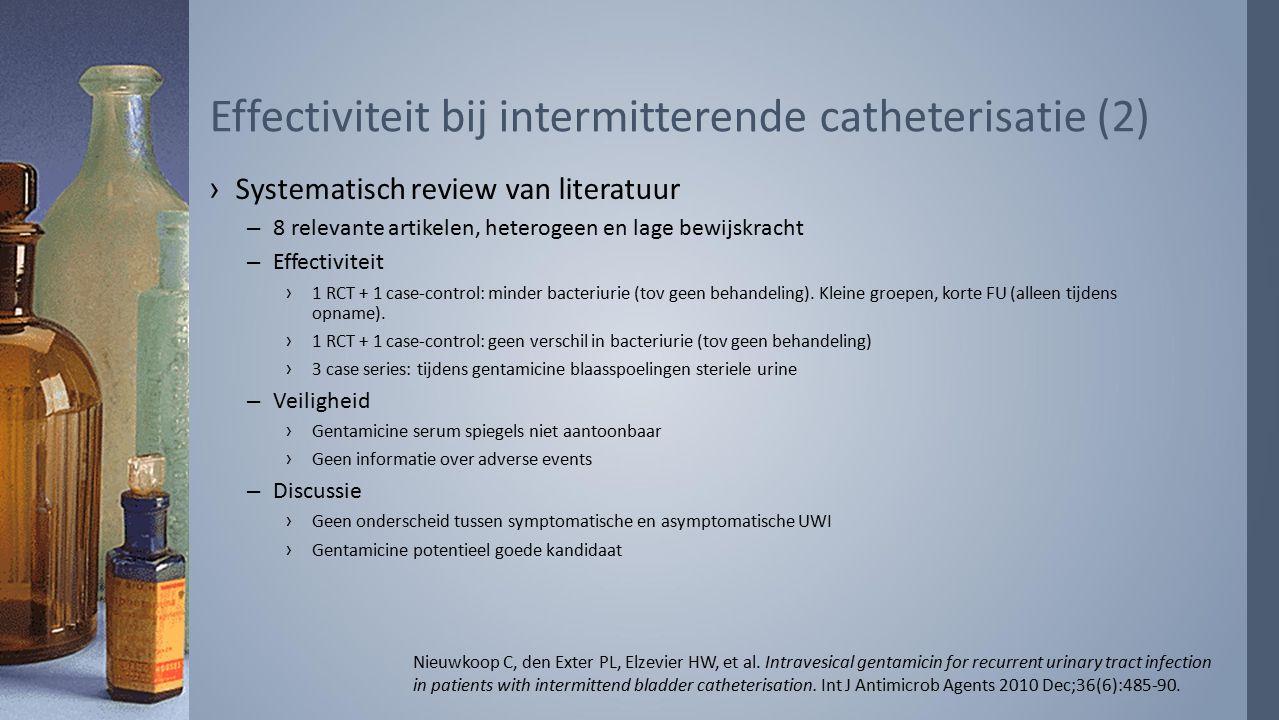Effectiviteit bij intermitterende catheterisatie (2)