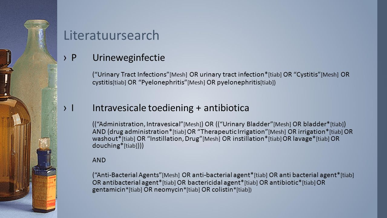 Literatuursearch P Urineweginfectie