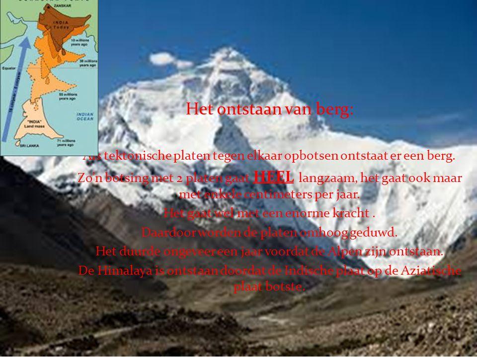 Bergen Het ontstaan van berg: