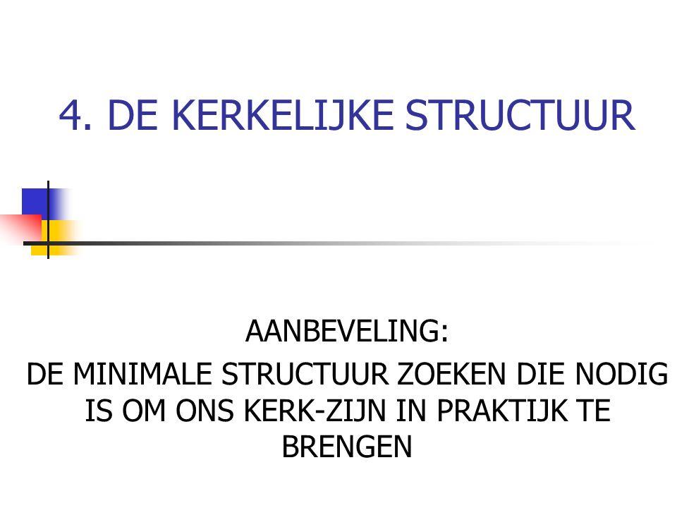 4. DE KERKELIJKE STRUCTUUR