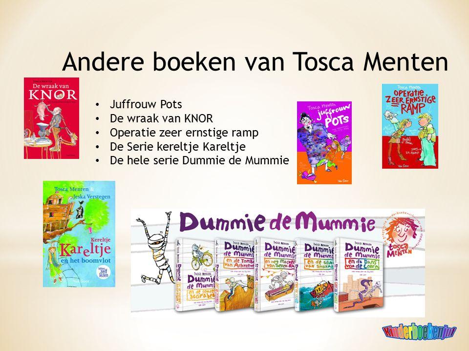 Andere boeken van Tosca Menten