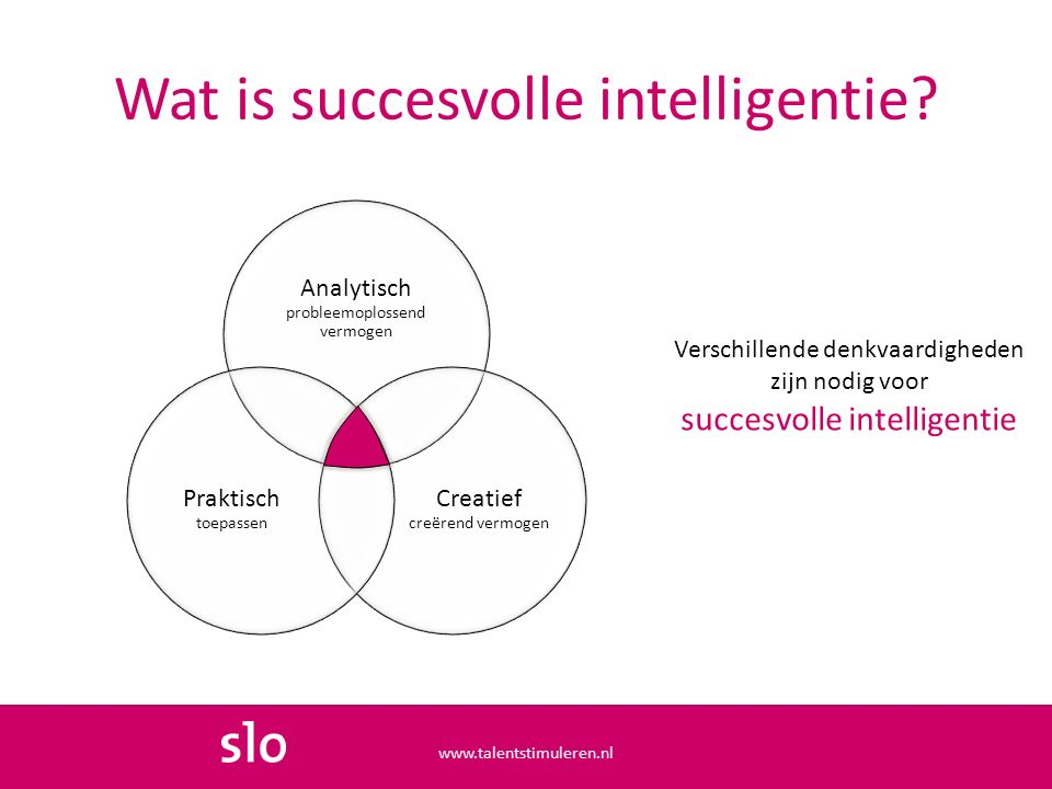 Wat is succesvolle intelligentie