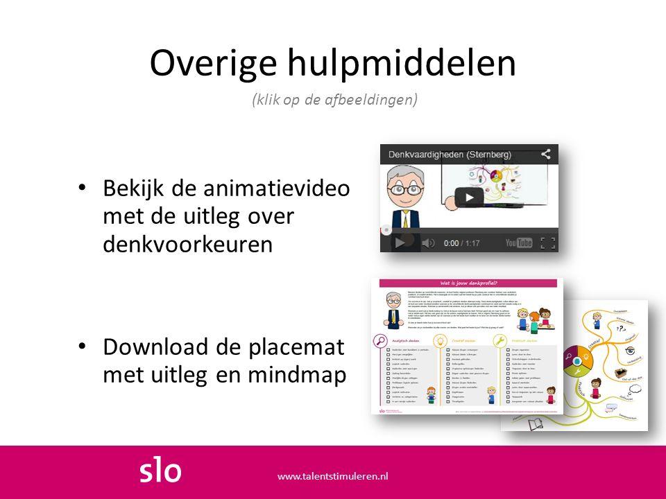 Overige hulpmiddelen (klik op de afbeeldingen) Bekijk de animatievideo met de uitleg over denkvoorkeuren.
