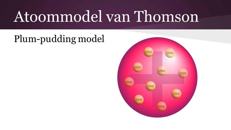 Atoommodel van Thomson