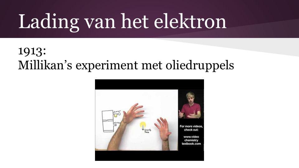 Lading van het elektron