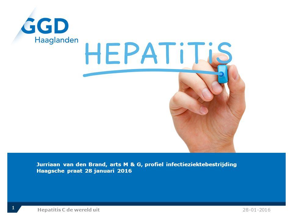 Dank Thomas, ik ben Jurriaan van den Brand en werk hier bij de GGD Haaglanden. We hebben dit onderwerp verkozen om gezien de verbeteringen in behandeling in Hepatitis C.