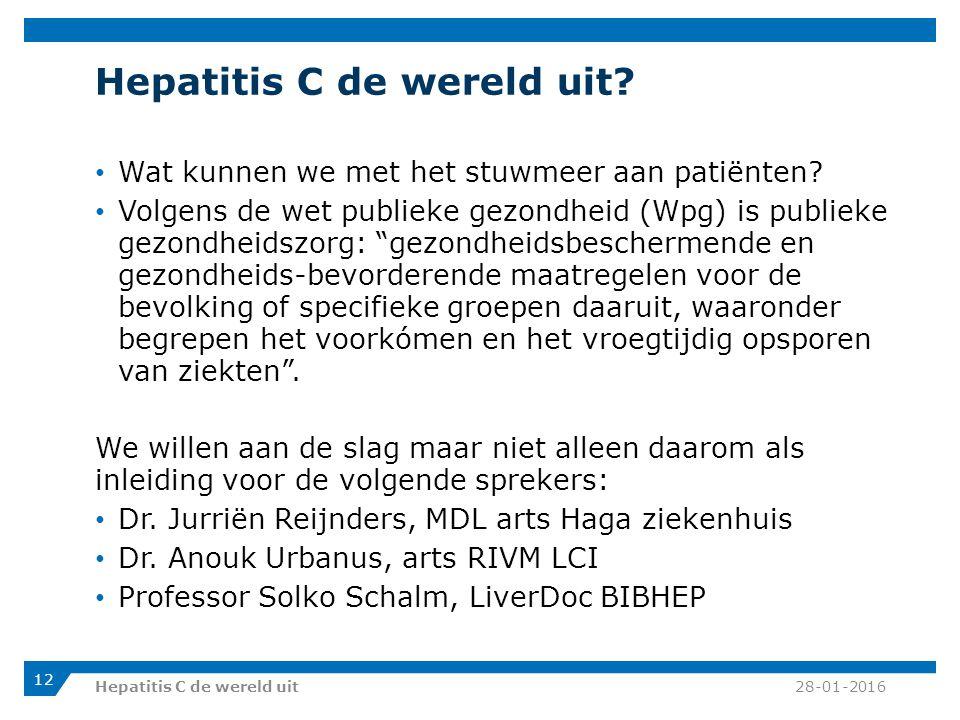 Hepatitis C de wereld uit