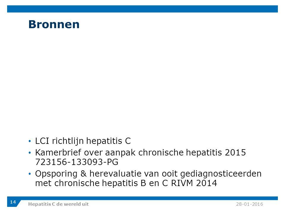 Bronnen LCI richtlijn hepatitis C