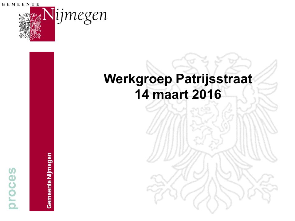 Werkgroep Patrijsstraat 14 maart 2016