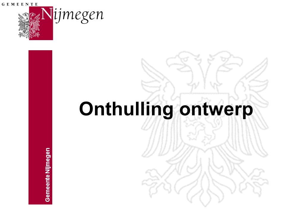 Onthulling ontwerp