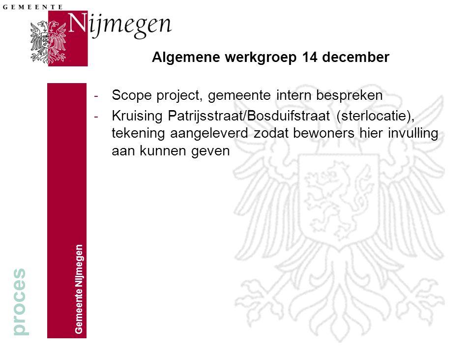 Algemene werkgroep 14 december