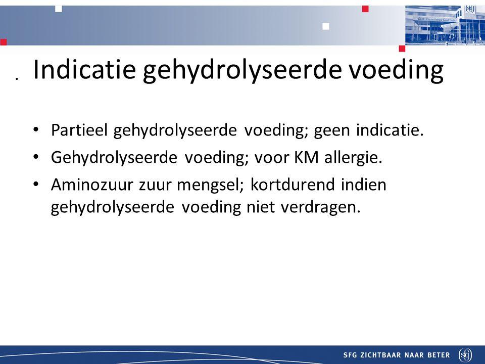 Indicatie gehydrolyseerde voeding