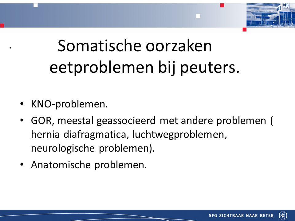 Somatische oorzaken eetproblemen bij peuters.