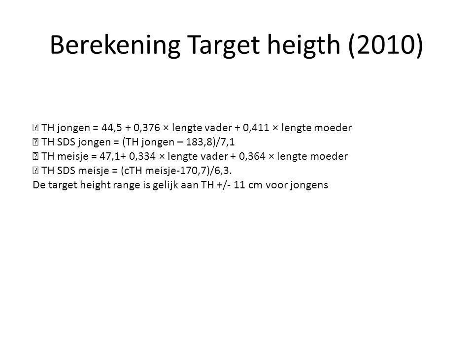 Berekening Target heigth (2010)