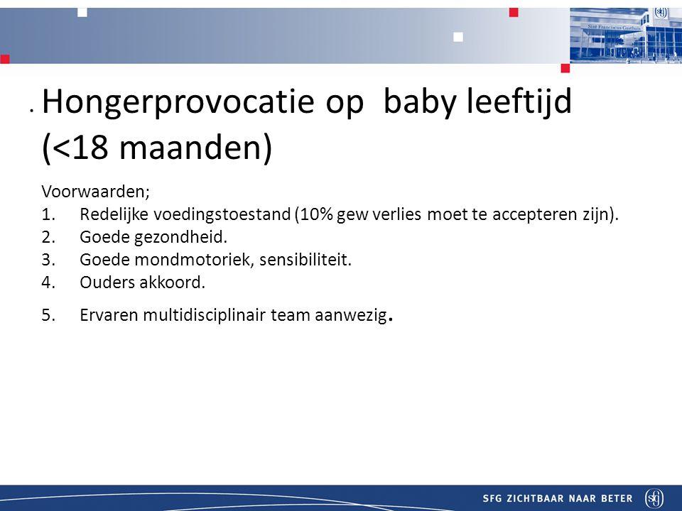 THonger provocatie bij Hongerprovocatie op baby leeftijd (<18 maanden)itel