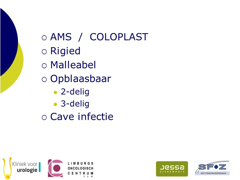 AMS / COLOPLAST Rigied Malleabel Opblaasbaar Cave infectie 2-delig