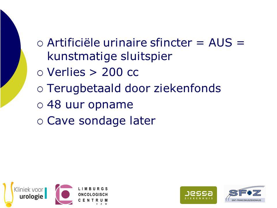 Artificiële urinaire sfincter = AUS = kunstmatige sluitspier
