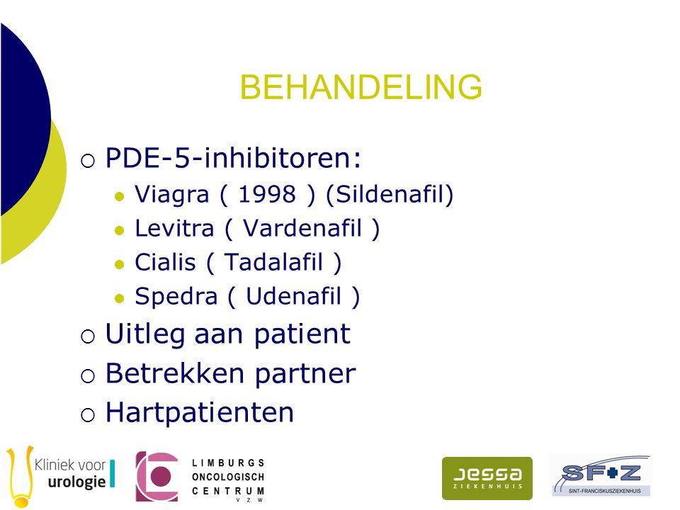BEHANDELING PDE-5-inhibitoren: Uitleg aan patient Betrekken partner