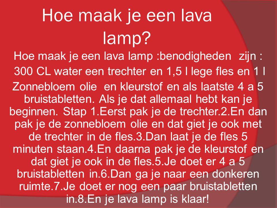 Hoe maak je een lava lamp