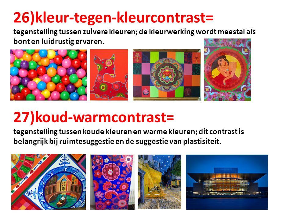 Begrippen klas 2 kleur compositie licht perspectief ruimte vorm ppt download - Koude en warme kleur ...