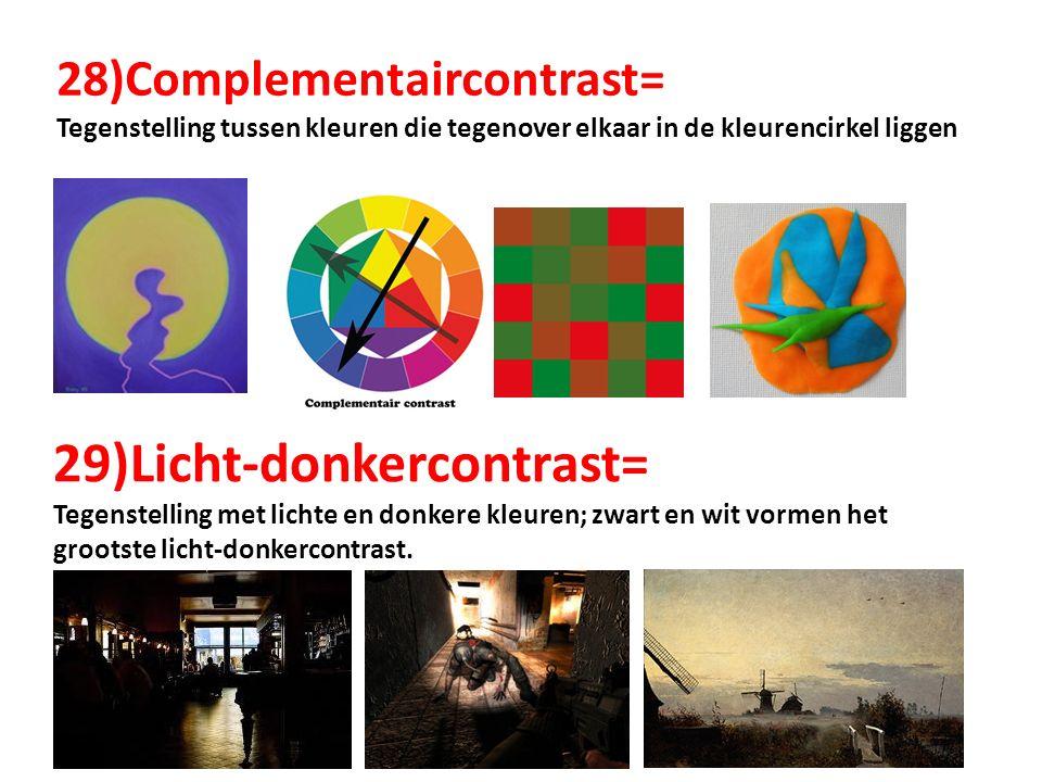 29)Licht-donkercontrast=
