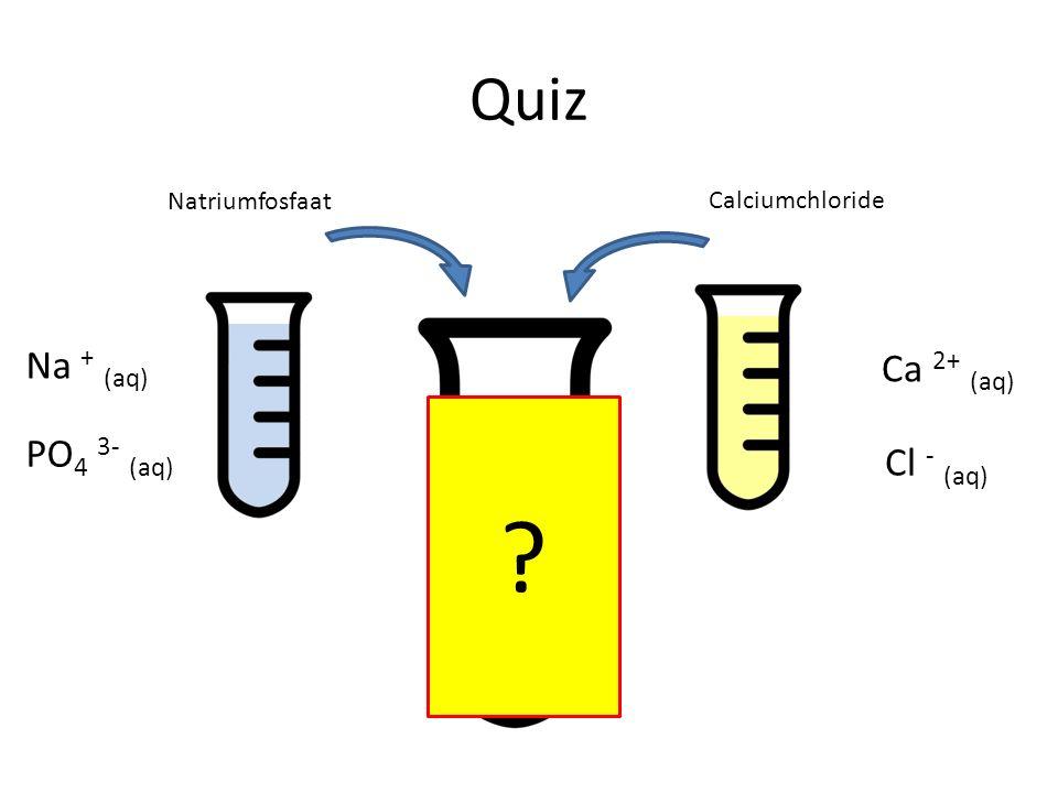 Quiz Na + (aq) Ca 2+ (aq) PO4 3- (aq) Cl - (aq) Natriumfosfaat